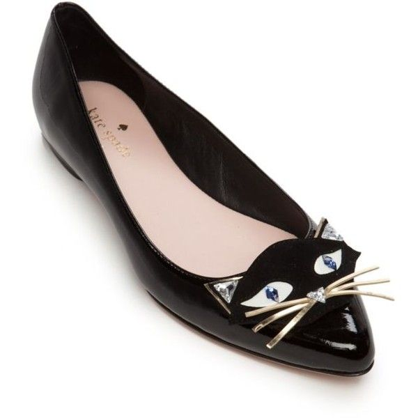 a9133afbd2d6 Kate Spade New York Natasha Cat Flat ( 250) ❤ liked on Polyvore featuring  shoes
