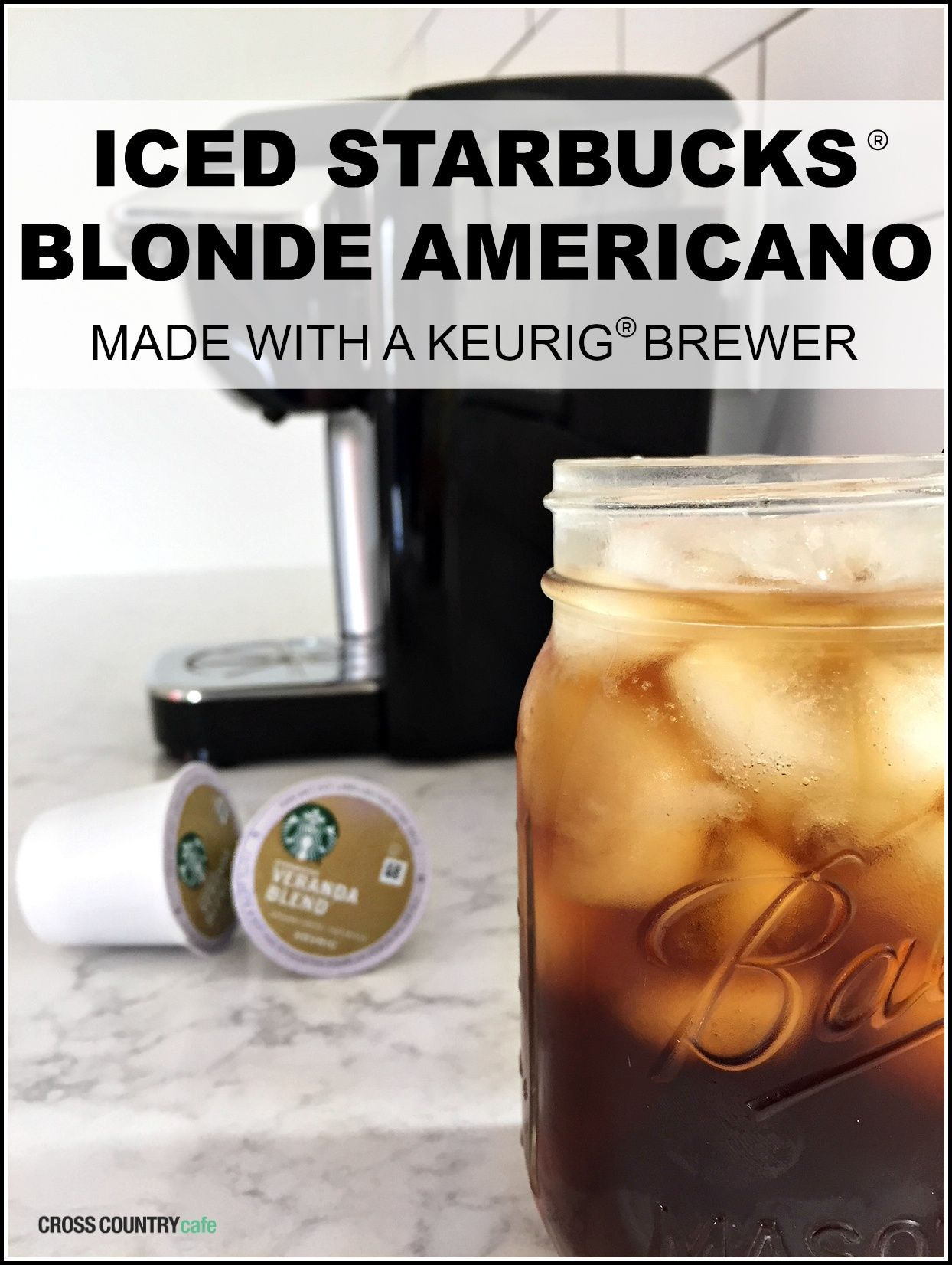 How to make an iced starbucks blonde americano with a