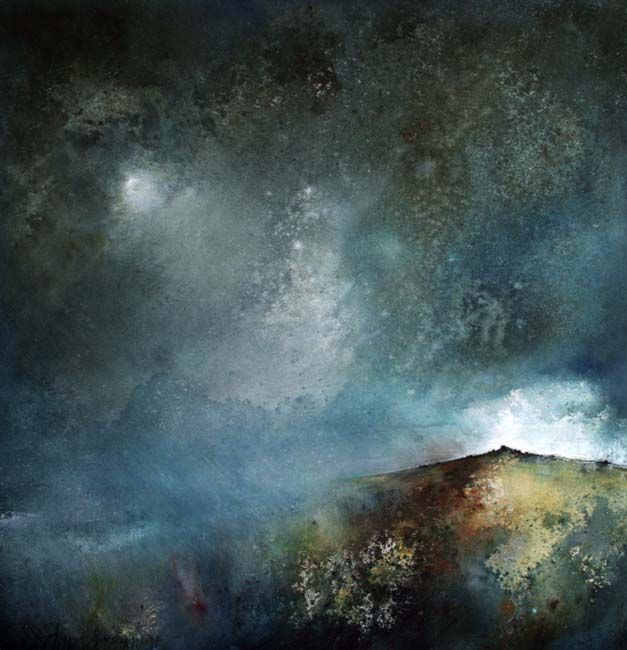'To the Bright and Broken Line' Acrylic on Paper by Stewart Edmondson