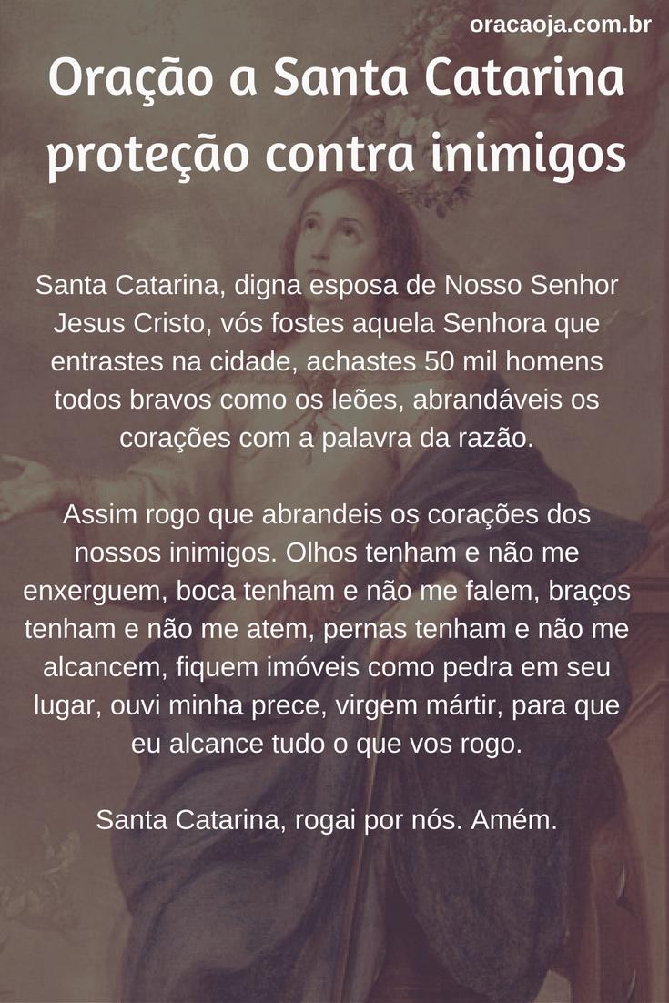 Populares Oração a Santa Catarina para proteção contra inimigos #oração  HB99