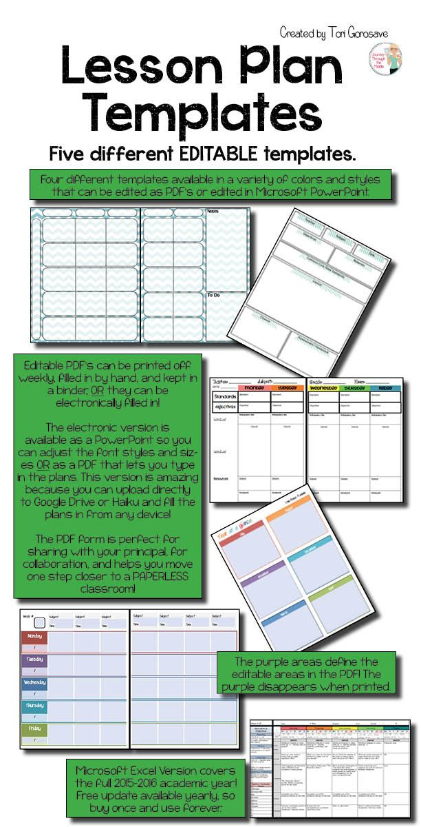 Lesson Plan Templates {Google Digital Resource} Lesson plan - meeting planning template