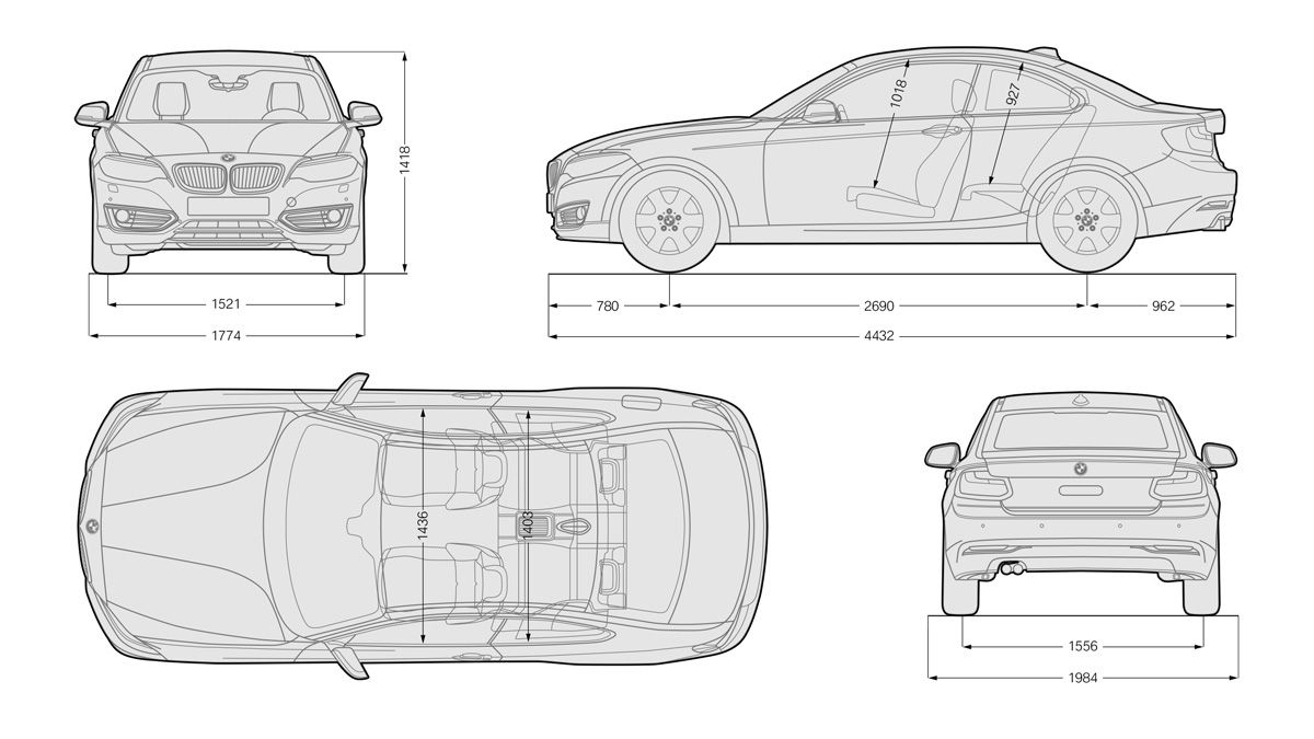 Bmw 2er Coupe Dimensions Bmw M235i Bmw 320d Bmw 3 Series Bmw