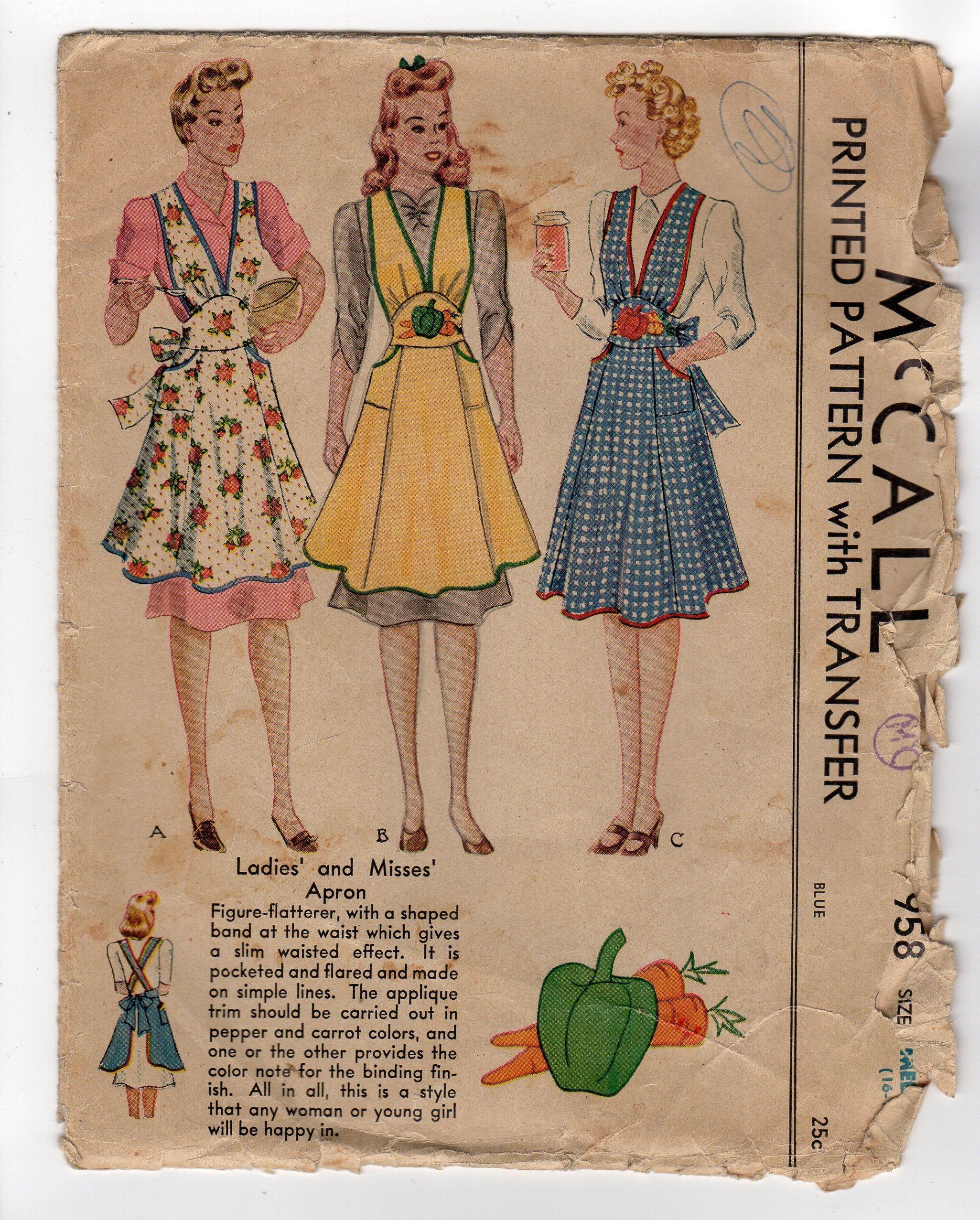 Vintage Floral Hostess Apron.......size Small to Medium