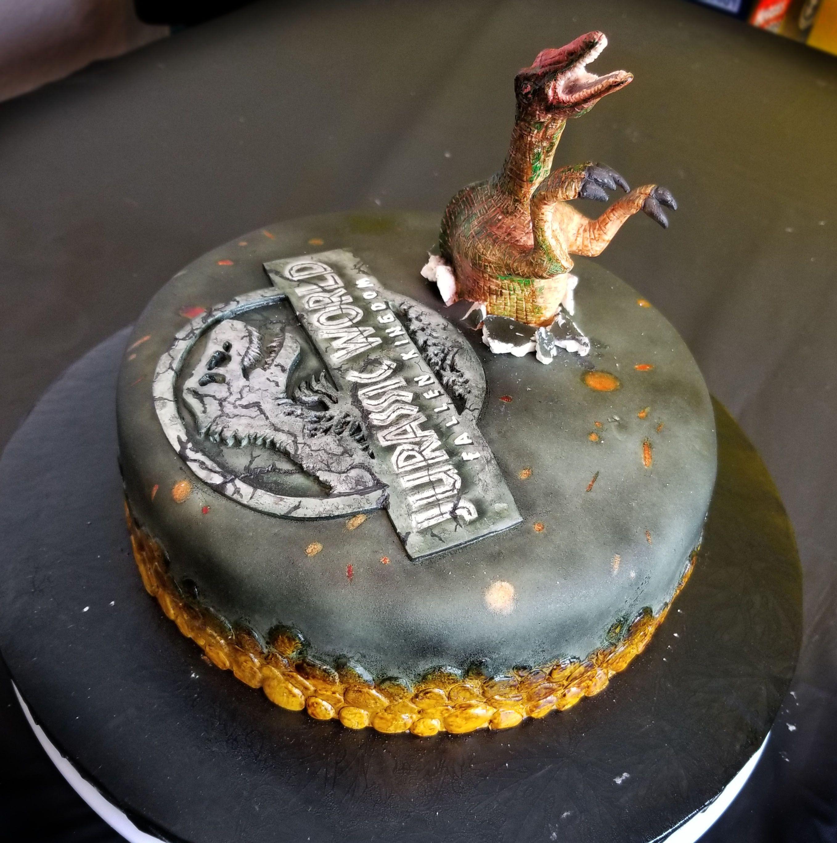 Jurassic World 2 Fallen Kingdom Cake Tutorial On Youtube By