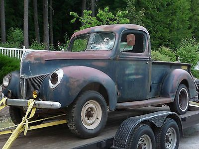 Ford Pickups Deluxe Barn Find 1940 Pickup