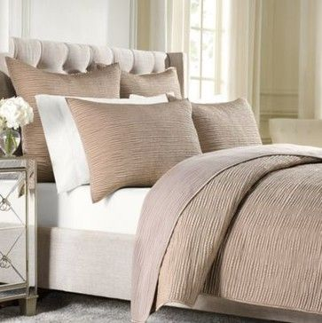 Wamsutta Serenity Quilted Coverlet In Copper Contemporary Quilts Bed Bath Beyond Quilted Coverlet Wamsutta European Pillows