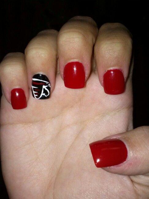 Falcons Atlanta Georgia Superbowl Cute Nail Art Nails Pretty