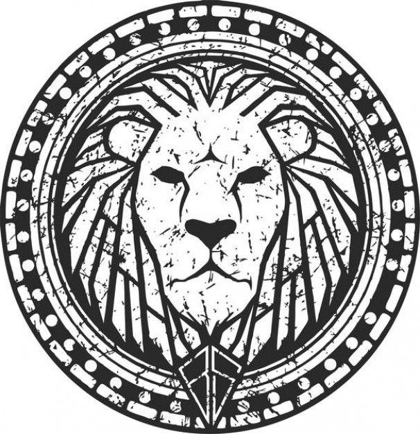 Lion head label | Lion | Pinterest | Leones, León y Tatuajes
