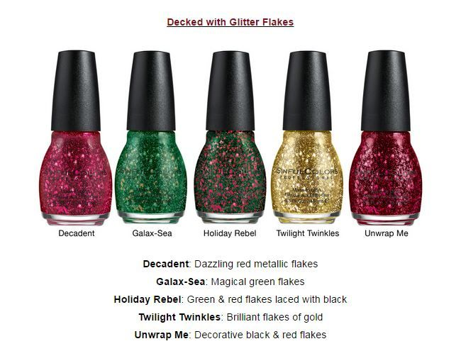SinfulColors Decked with Glitter Flakes