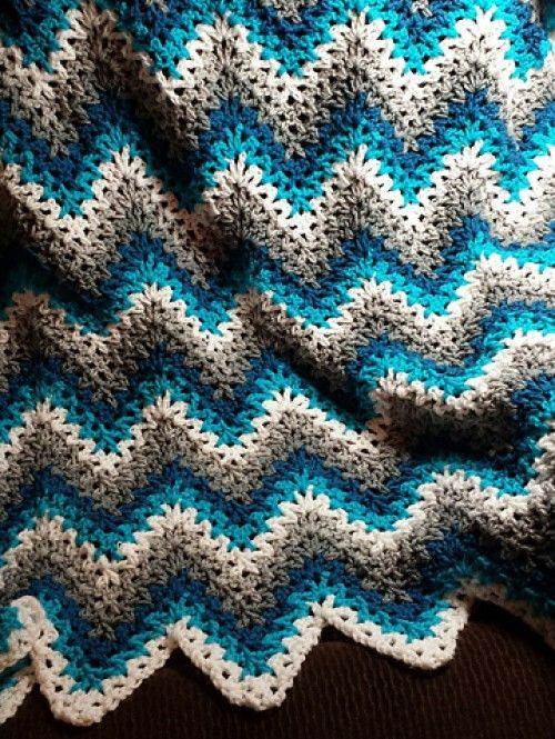 V-Stitch Ripple Afghan - Free Pattern (Beautiful Skills ...