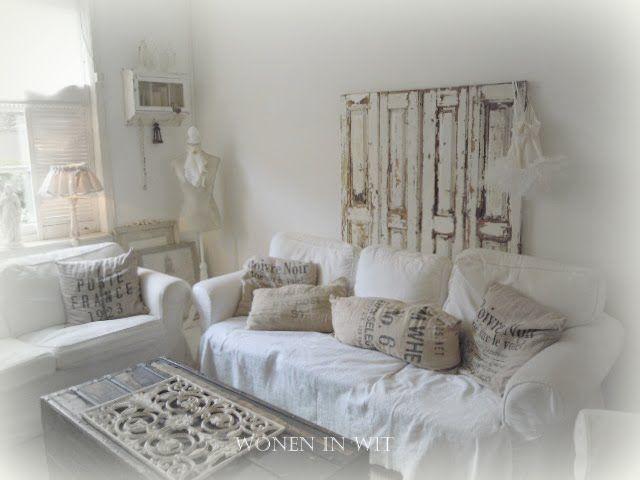 Wonen In Wit : Wonen in wit verandering a white room shabby