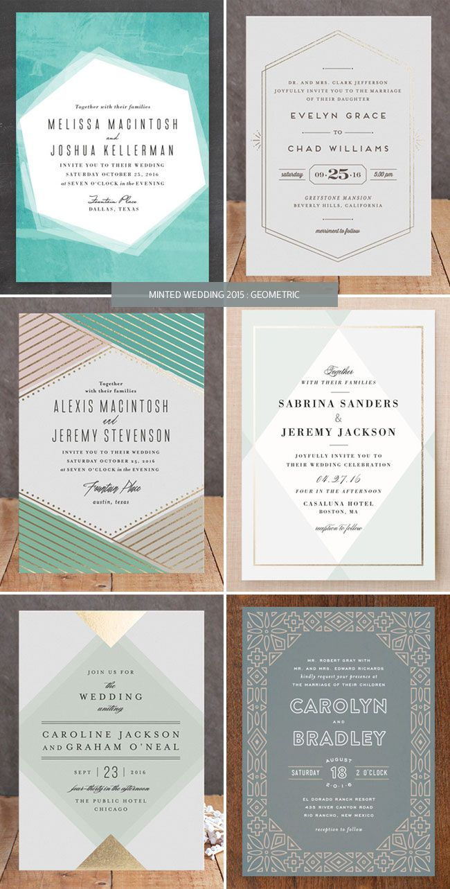 Minted Wedding Invitations 2015 : Geometric | Paperie | Pinterest ...