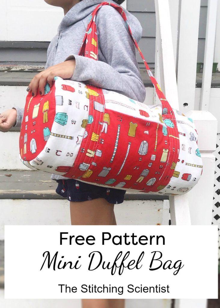 Free Duffle Bag : duffle, Duffel, Pattern, Stitching, Scientist, Duffle, Patterns,, Pattern,