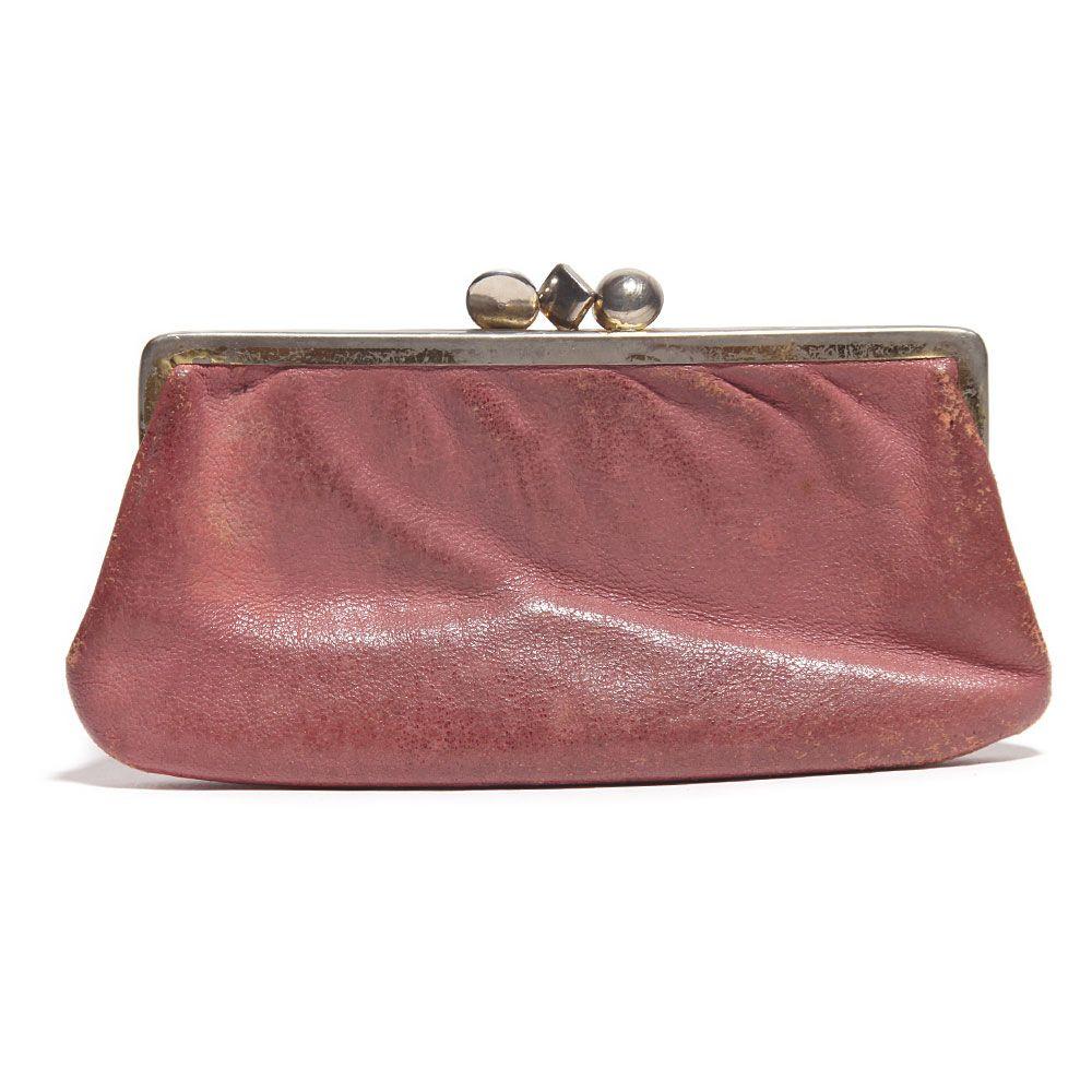 Roze Leren Portemonnee.Roze Leren Portemonee Verkocht Leer Leder Leather Portemonnee