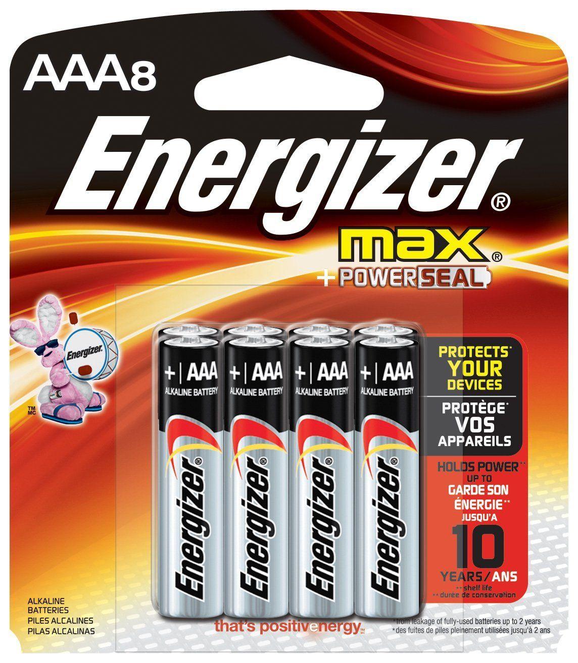 Energizer Max Alkaline Aaa Batteries 8 Ea Alkaline Max Energizer Ea Energizer Battery Energizer Aaa Batteries