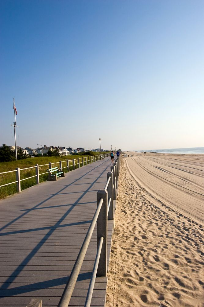 Boardwalk Along The Beach On The New Jersey Shore