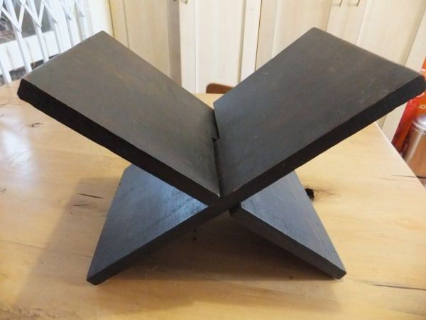 rihal rehal quran holder / carved wooden book stand in solid ebony