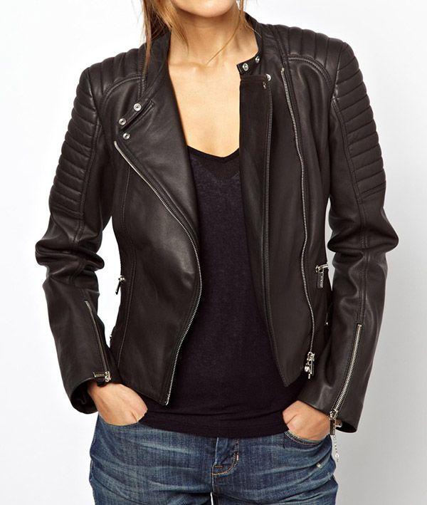 veste motard femme cuir asos mode en 2019 pinterest. Black Bedroom Furniture Sets. Home Design Ideas
