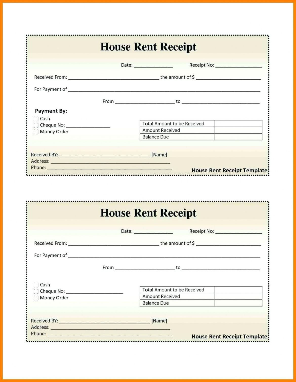 House Receipt Template