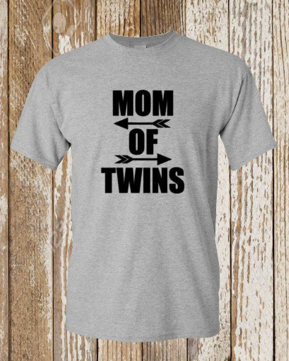 Mom Of TWINS Trendy Tee Graphic Unisex Shirt Twins Fun Gift Mothers Day