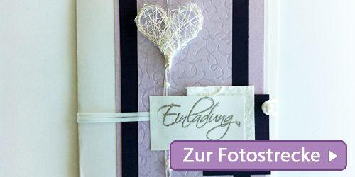 DIY Hochzeitskarte - Einladungskarten