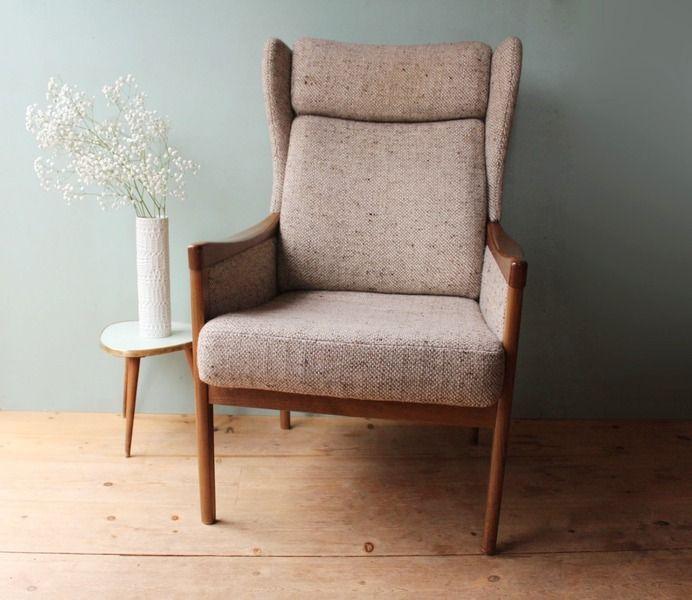 sessel d nisches design 50er 60er von mill vintage auf. Black Bedroom Furniture Sets. Home Design Ideas