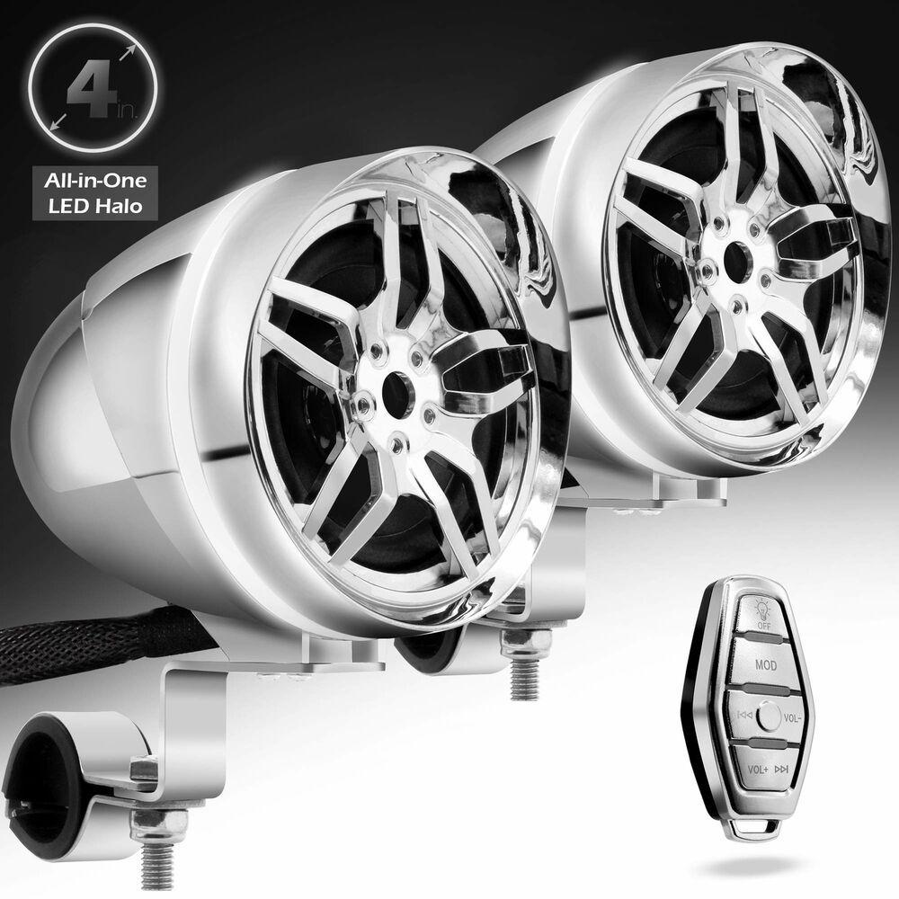 Bluetooth Handlebar Audio Amplifier Stereo Speaker System MP3 For Harley 7//8/'/'