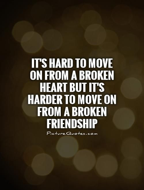 It's hard to move on from a broken heart but it's harder