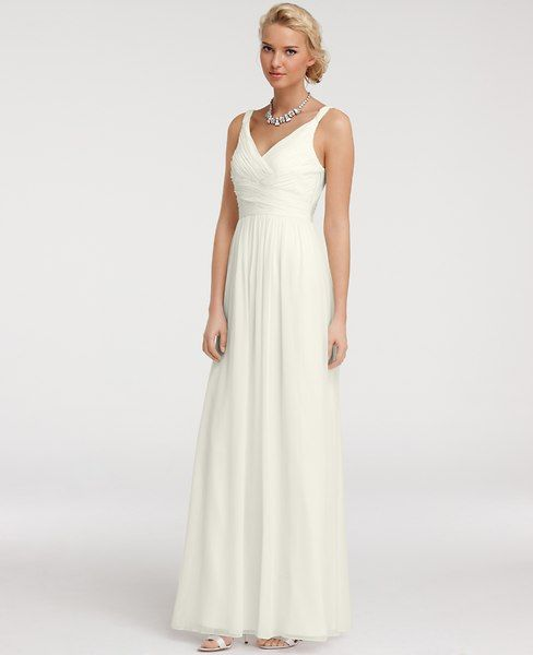 Ann Taylor - AT Dresses - Silk Georgette V-Neck Gown | wedding ...