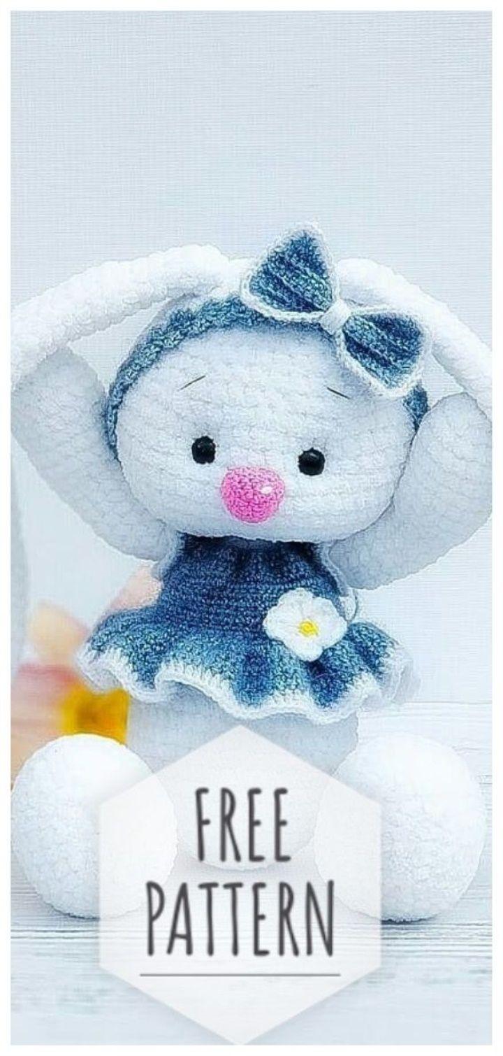 Amigurumi Bunny #crochettoysanddolls