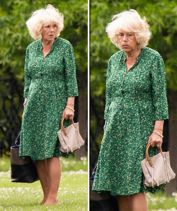 Camilla Duchess of Cornwall looks fed up and suffe