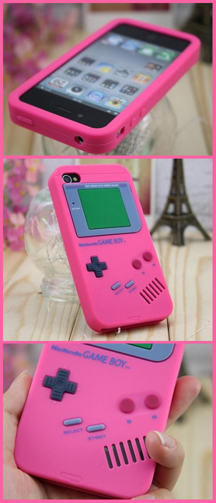 Gameboy Iphone cover. My gameboy was neon green, but I'd would've much rather have had pink instead.