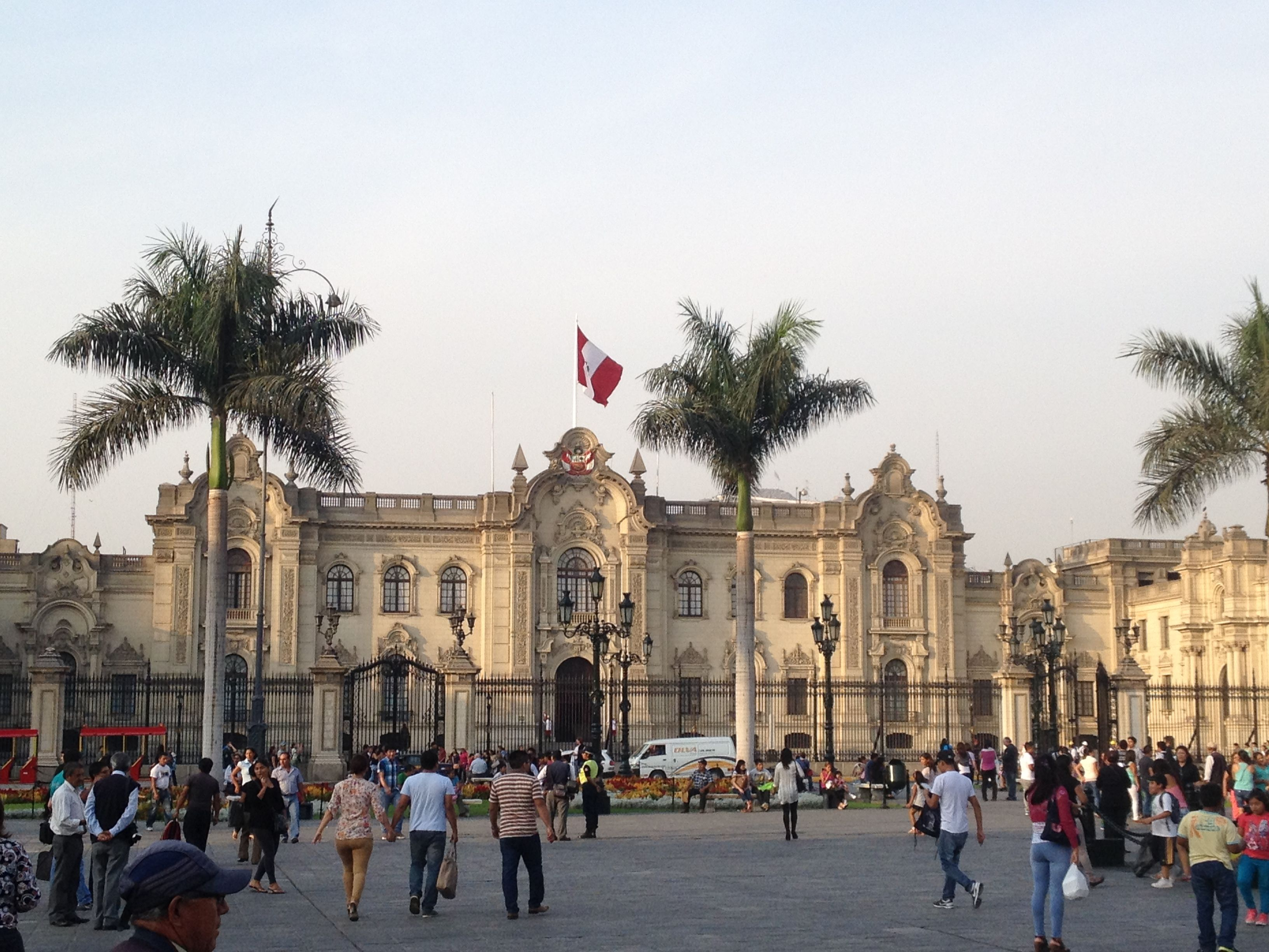 The Presidential Palace in Lima, Peru.