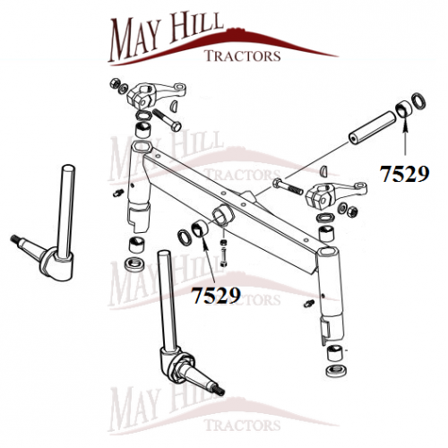 massey ferguson 165 175 185 290 390 575 590 675 690 front axle pivot pin bush