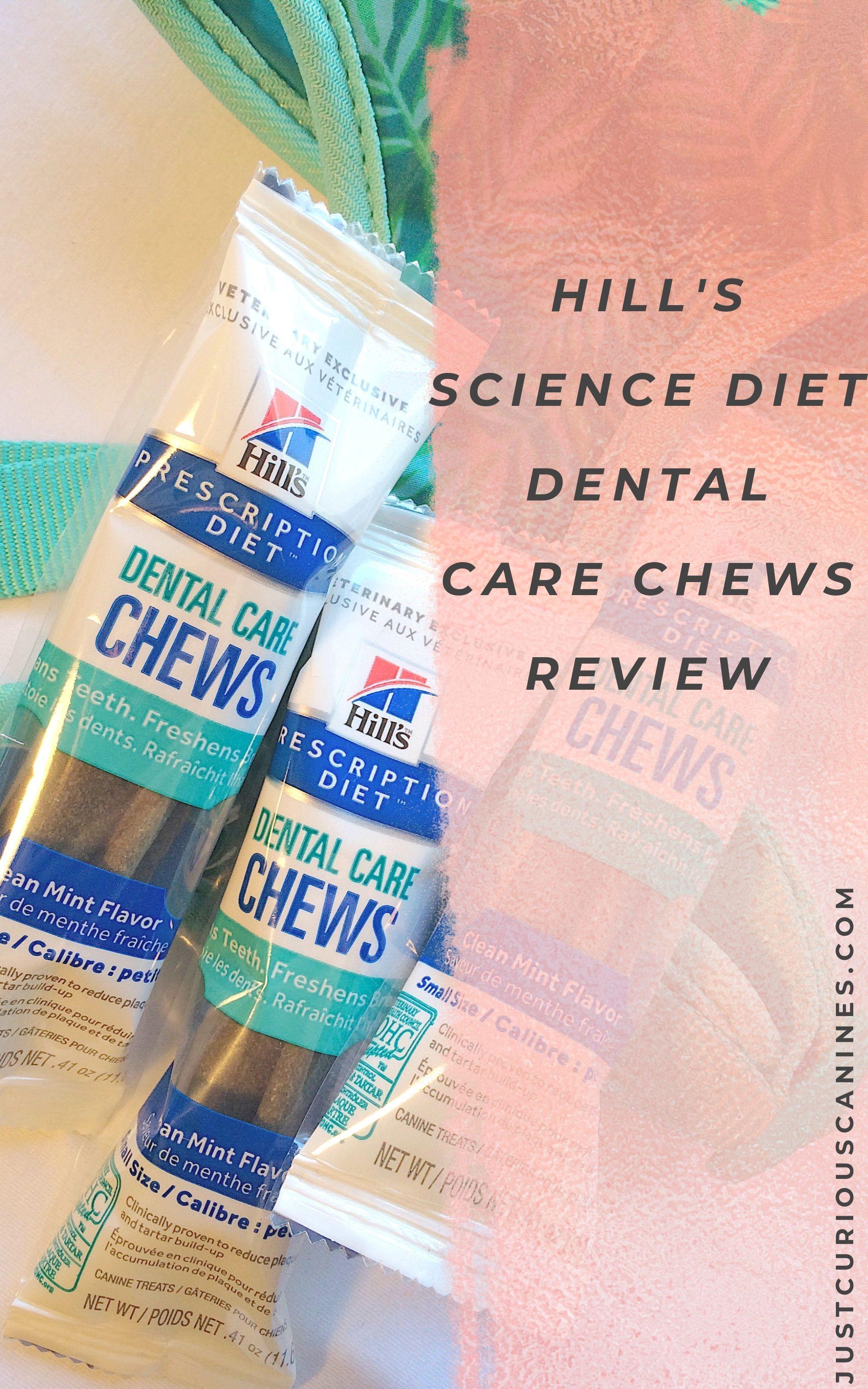 Hill's Diet Dental Chews Review Dog dental chews, Dental