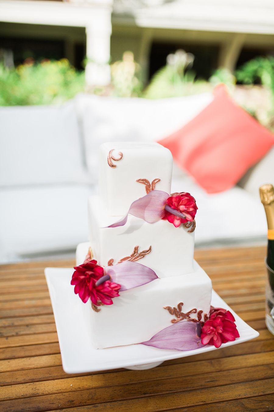 Tropical wedding inspiration at maleana gardens wedding dresses