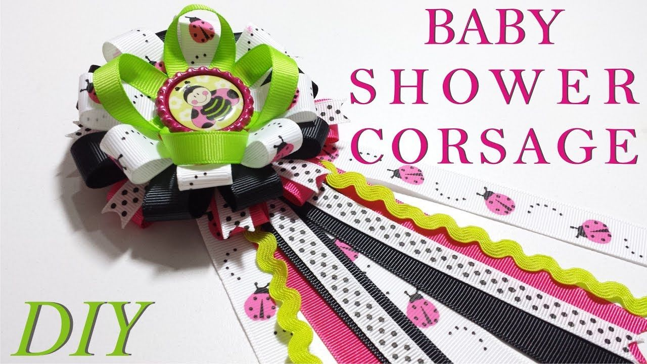 How to make hair bows diy baby shower corsage tutorial