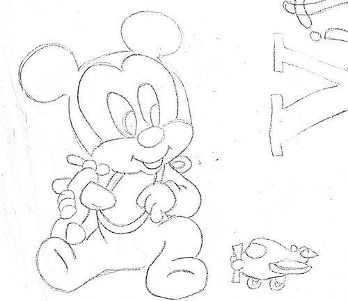 Pin Do A Mariana Matias Em Desenhos Para Pintar: Pintura Em Fraldas De Bebe Riscos Do Mickey Baby