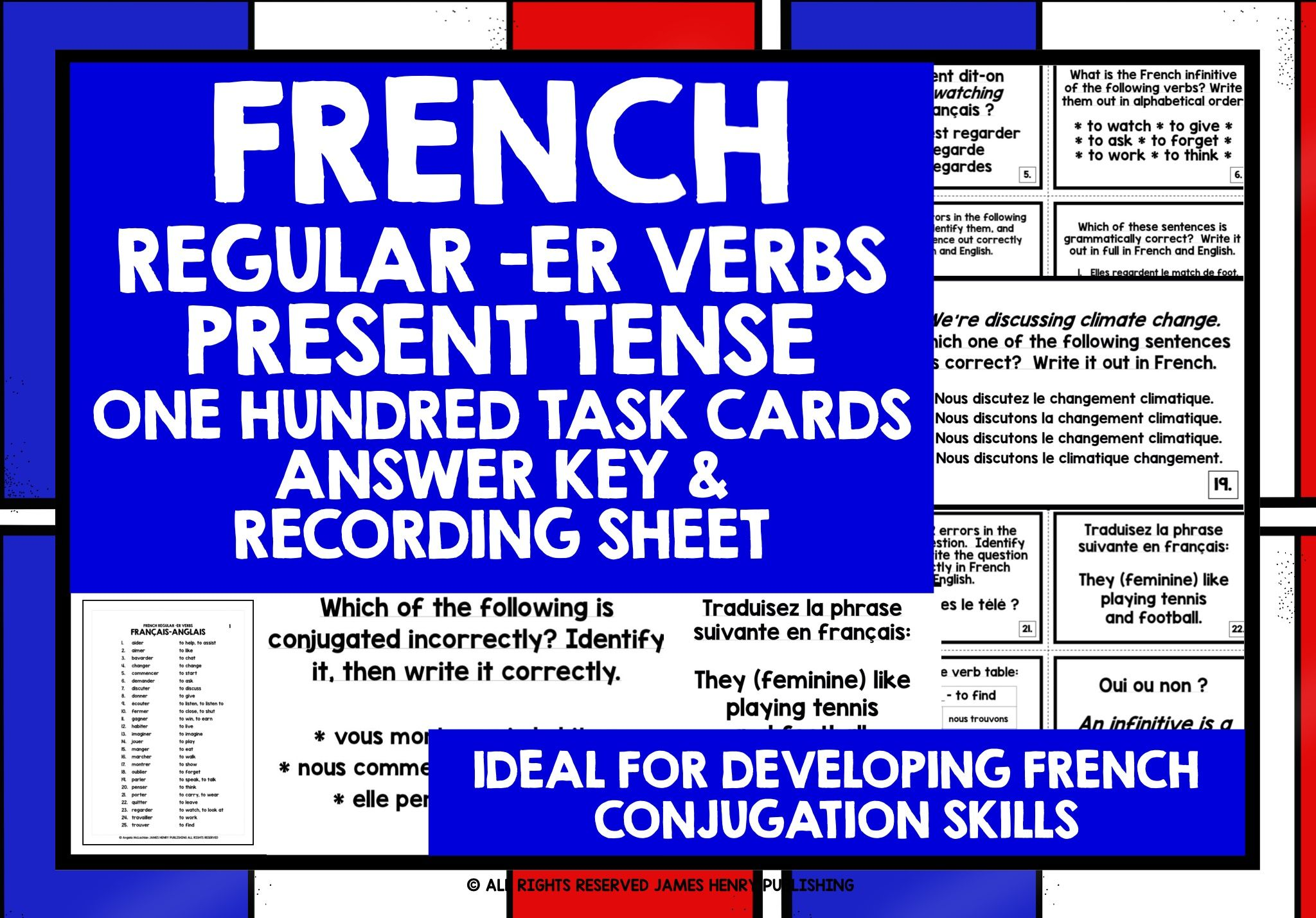 French Verbs Task Cards Verb Task Cards Learn French French Verbs [ 1428 x 2048 Pixel ]