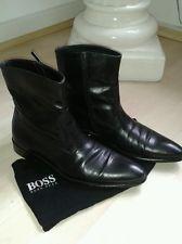 Hugo Boss Herren Stiefeletten/Schuhe 44 LEDER