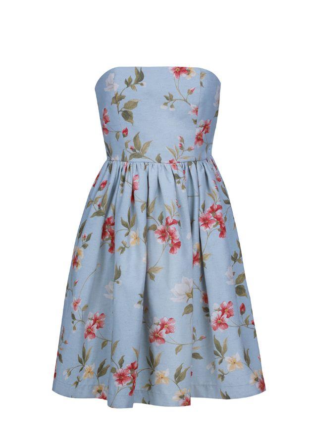 Sukienka Gorsetowa W Kwiaty Summer Dresses Fashion Dresses