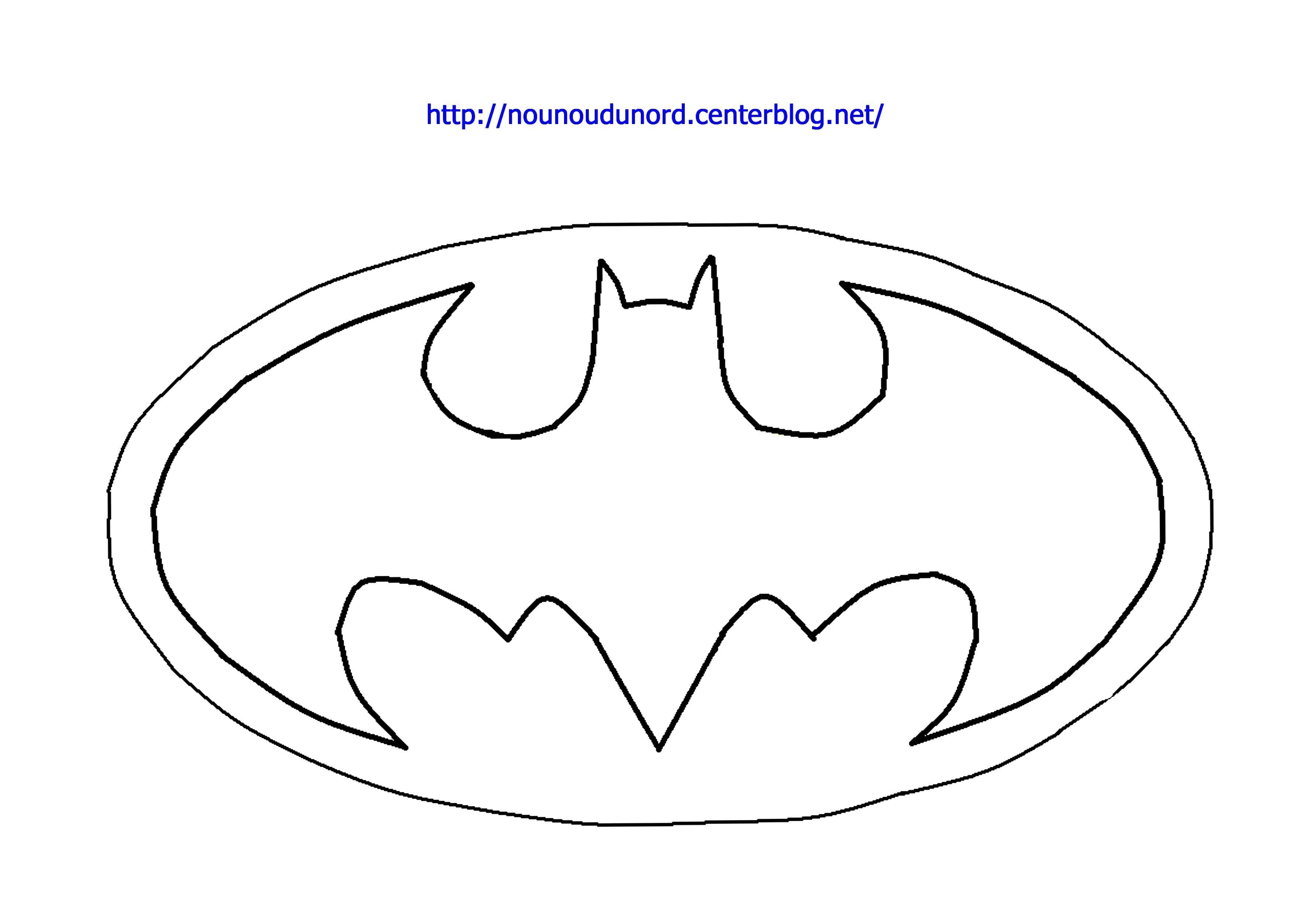 Dessin gratuit batman à imprimer  Logo batman, Coloriage batman