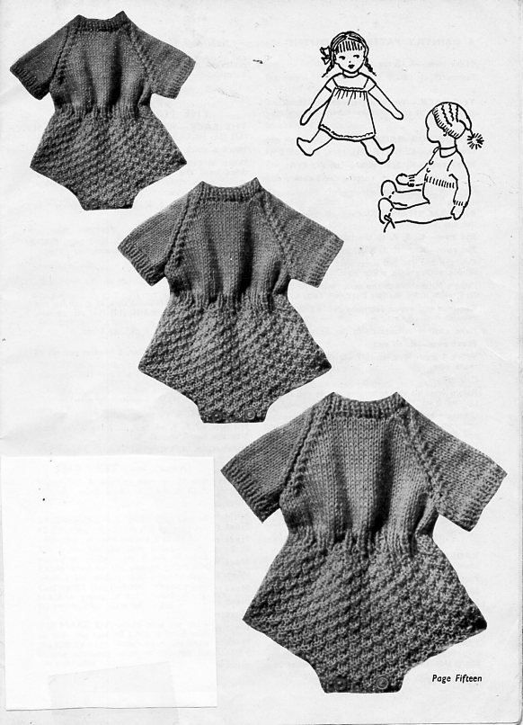 doll clothes knitting pattern pdf doll outfit baby doll