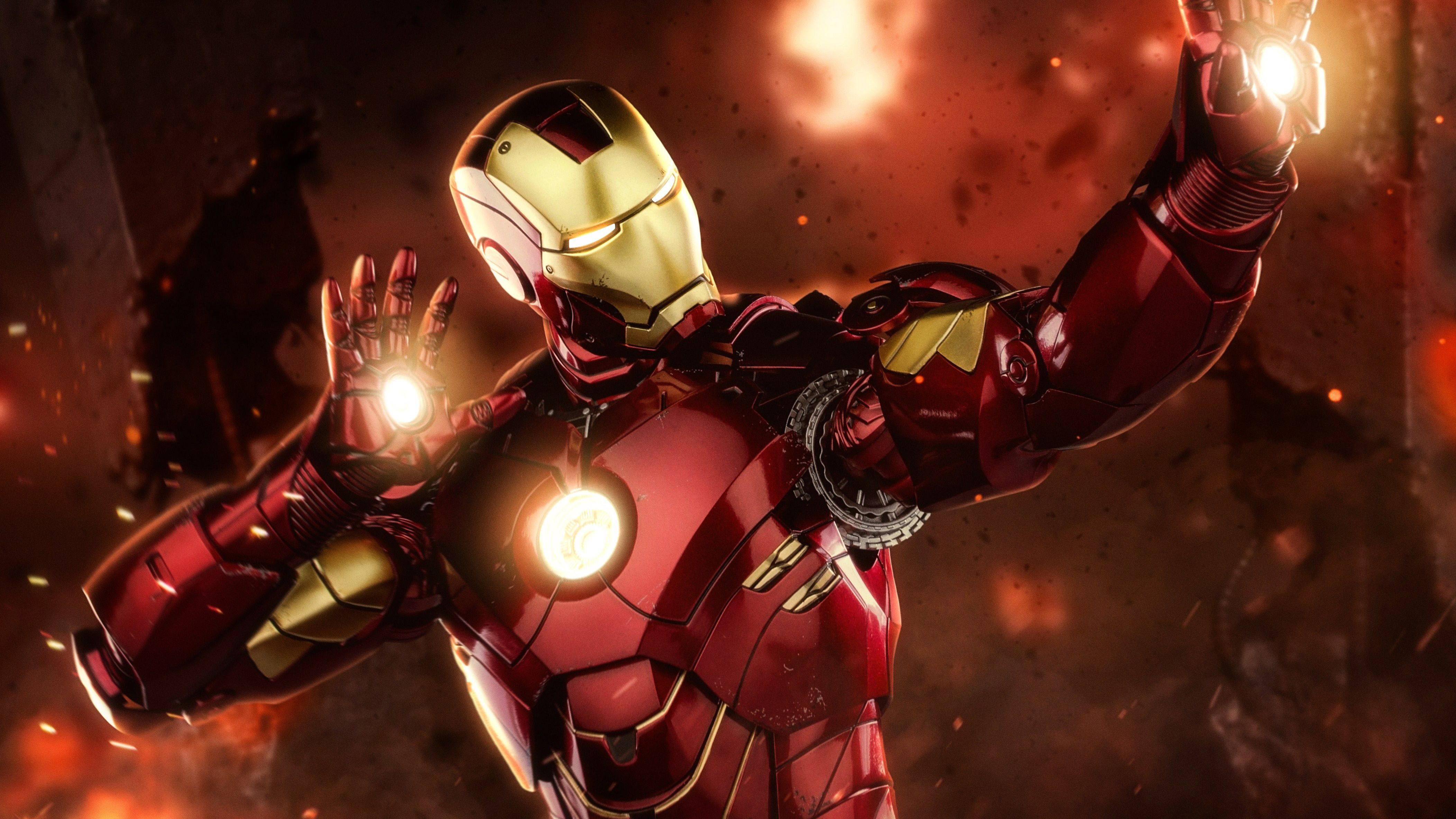 Iron Man 4k Iron Man Superhero Man Wallpaper