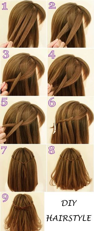Diy Haristyle You Can Try Hair Plecione Włosy Fryzury