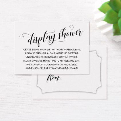 elegant minimal no wrap bridal shower gift tag wedding shower gifts party ideas diy cyo