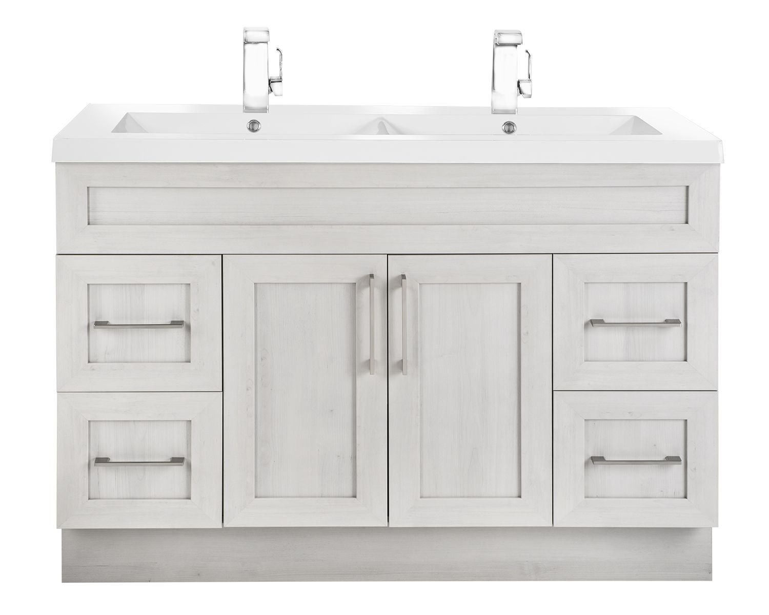 Classic Collection 48 Double Sink Vanity In Meadow S Cove Shaker Style Also Available In Colours Fo Oak Bathroom Vanity Kitchen And Bath Double Sink Vanity
