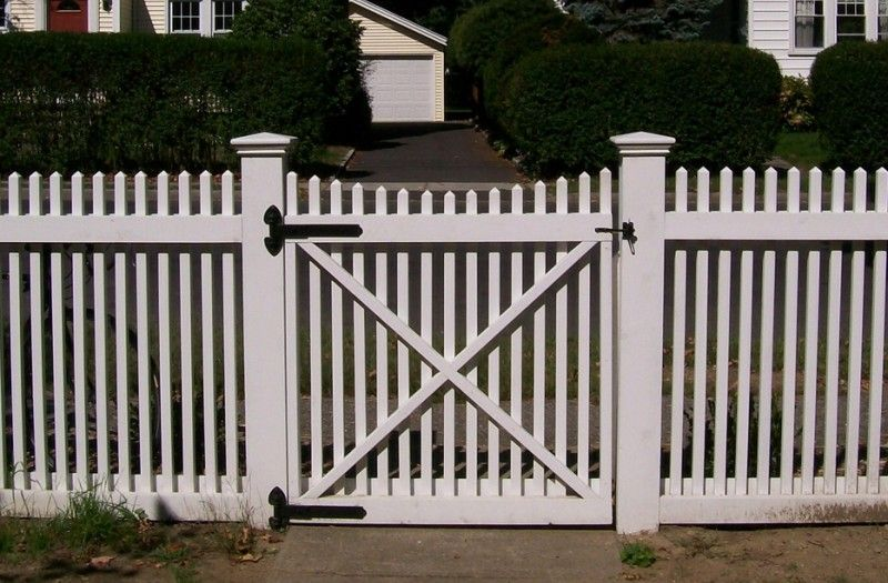 Picket Fences Installed By A Anastasio Fence Company Picket Fence Picket Fence Gate Fence