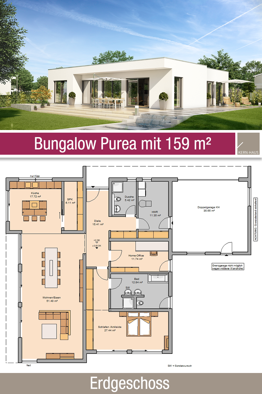 Photo of Bungalow – pianta – 159 m² – 3 camere – piano terra