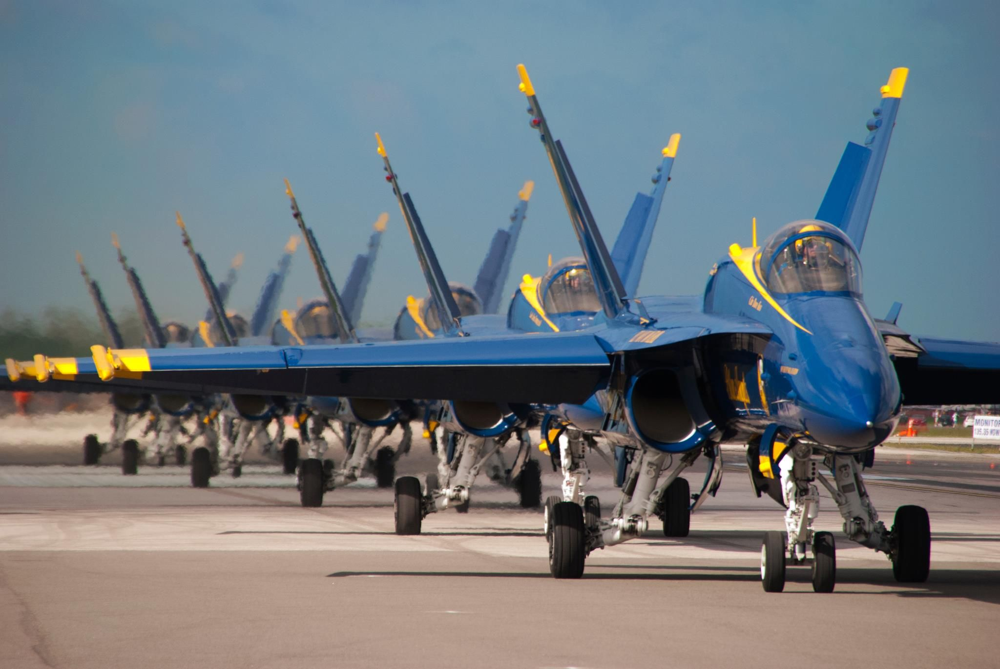 U.S. Navy Blue Angels ready for take off Blue angels air